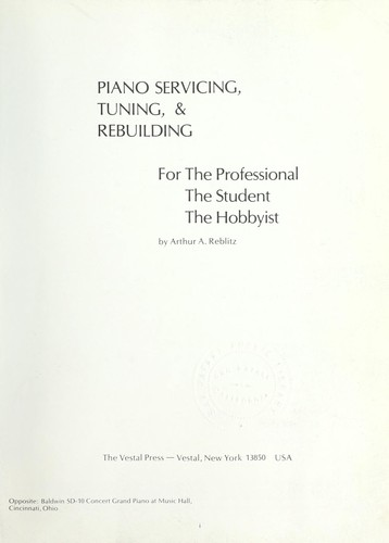 Piano servicing, tuning, & rebuilding