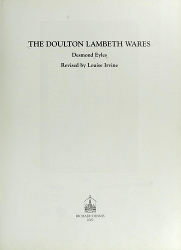 The Doulton Lambeth wares