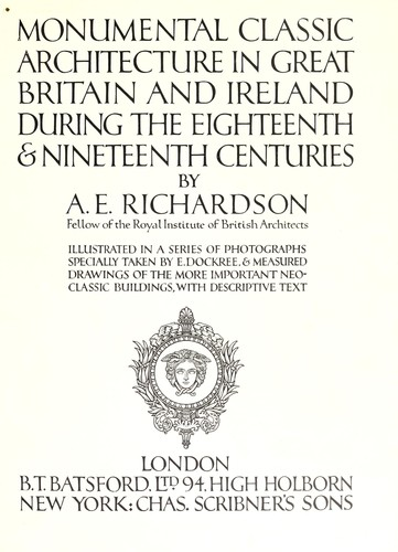 Download Monumental classic architecture in Great Britain and Ireland