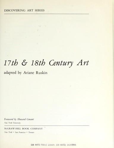 17th & 18th century art.