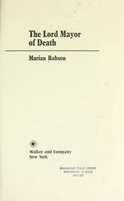 The Lord Mayor of Death PDF