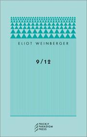 9/12 by Eliot Weinberger