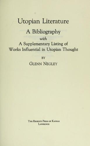 Utopian literature