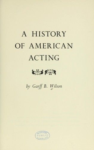 A history of American acting