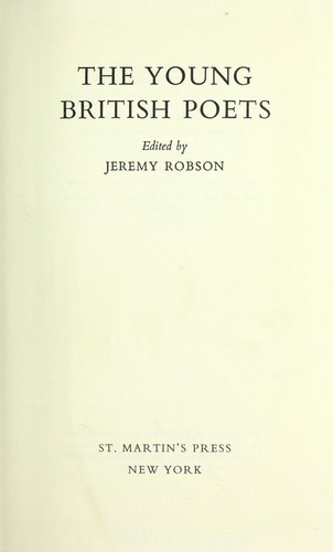 The young British poets.