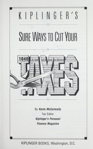 Download Kiplinger's sure ways to cut your taxes