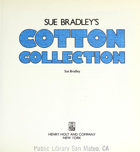 Sue Bradley's cotton collection