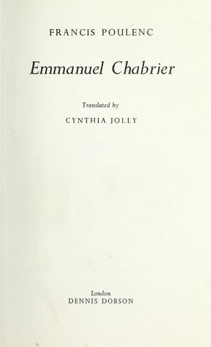 Download Emmanuel Chabrier