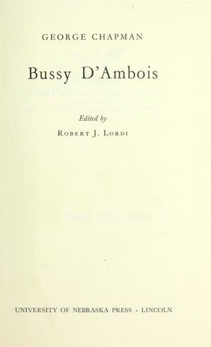 Bussy D'Ambois.