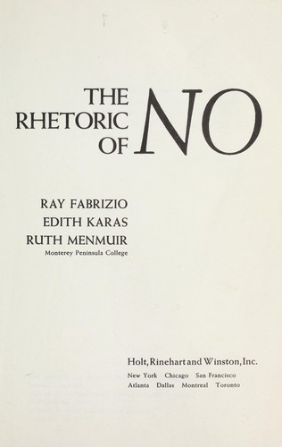 Download The rhetoric of no