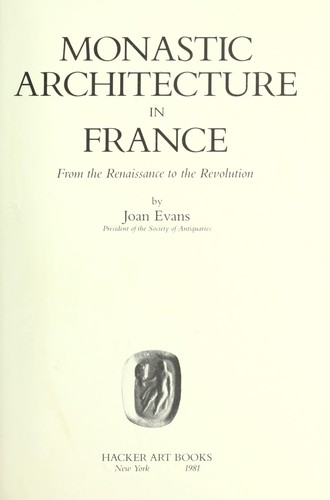 Download Monastic architecture in France