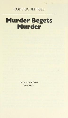 Download Murder begets murder