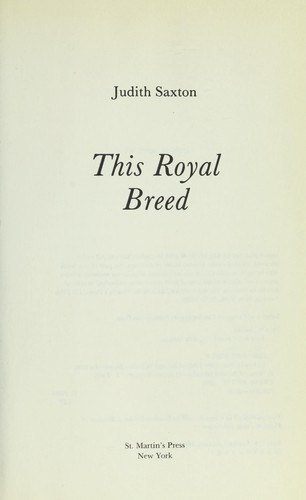 Download This royal breed
