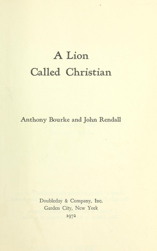 Download A lion called Christian