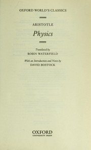 Cover of: Physics | Aristotle