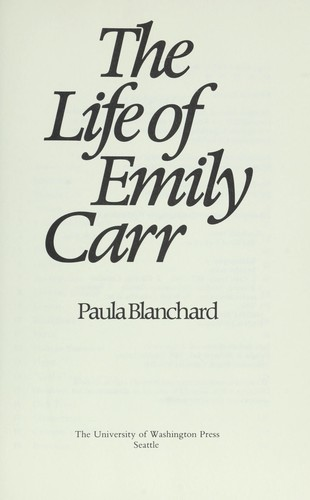The life of Emily Carr