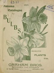 1901 autumn catalogue of bulbs, decorative plants, etc PDF