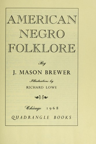 American Negro folklore