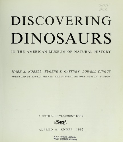 Discovering dinosaurs in the American Museum of Natural History