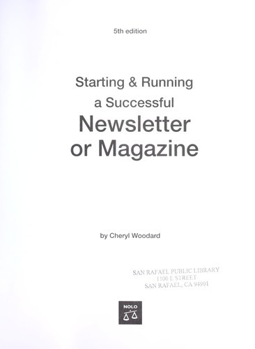 Download Starting & running a successful newsletter or magazine
