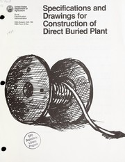 Specifications and drawings for construction of direct buried plant PDF