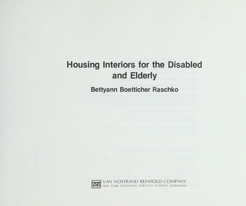 Download Housing interiors for the disabled and elderly