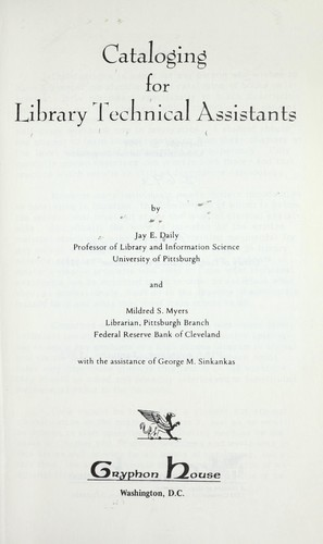 Download Cataloging for library technical assistants