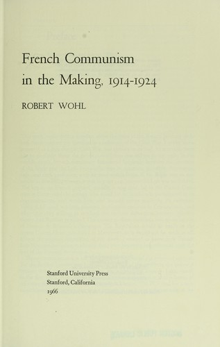Download French communism in the making, 1914-1924
