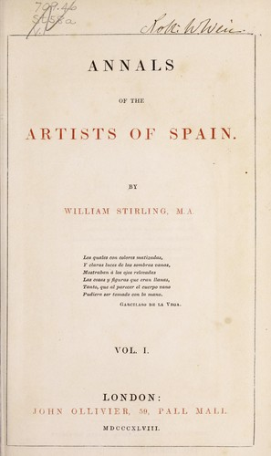 Annals of the artists of Spain.