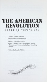 The American Revolution : opposing viewpoints PDF