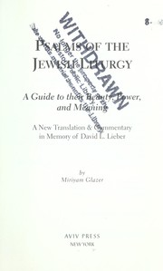 Psalms of the Jewish liturgy PDF
