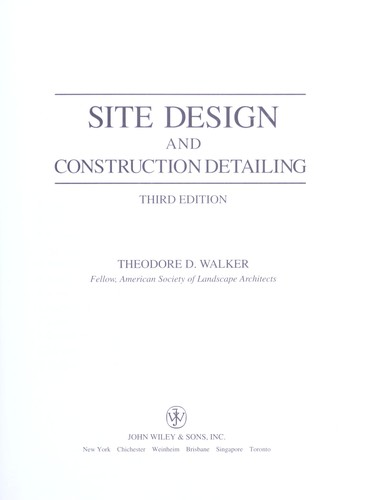 Download Site design and construction detailing