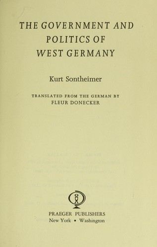 Download The government and politics of West Germany.