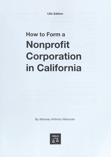 Download How to form a nonprofit corporation in California