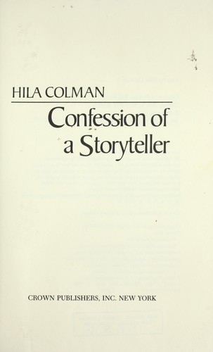 Download Confession of a storyteller