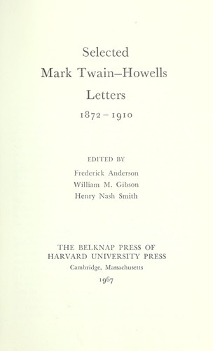 Download Selected Mark Twain-Howells letters, 1872-1910.