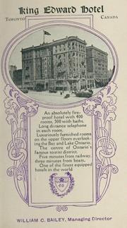 King Edward Hotel, Toronto, Canada PDF