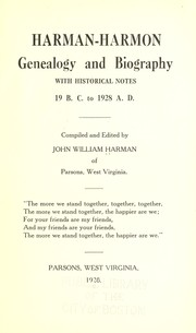 Harman-Harmon genealogy and biography