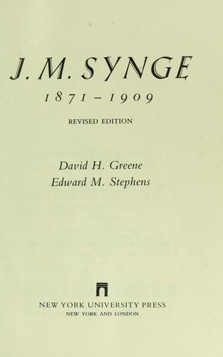Download J.M. Synge, 1871-1909