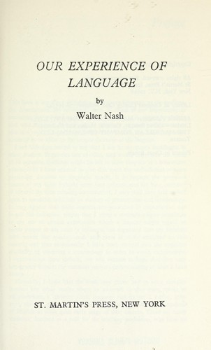 Our experience of language.
