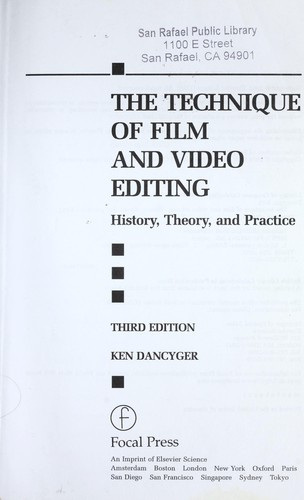 Download The technique of film and video editing