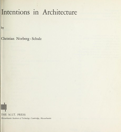 Intentions in architecture.