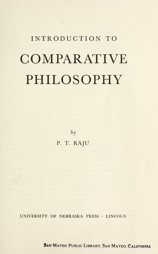 Download Introduction to comparative philosophy.