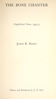 The bone chanter : unpublished poems 1945-72 PDF