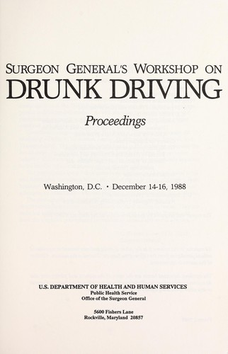 Download Surgeon General's Workshop on Drunk Driving