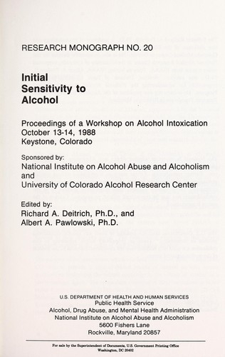 Download Initial sensitivity to alcohol