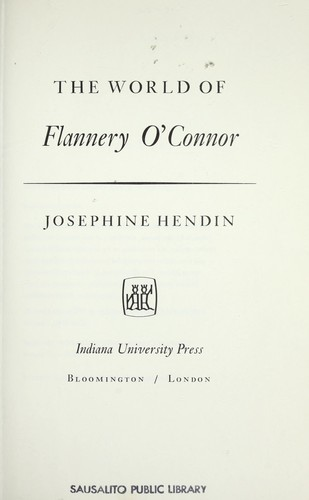 Download The world of Flannery O'Connor.