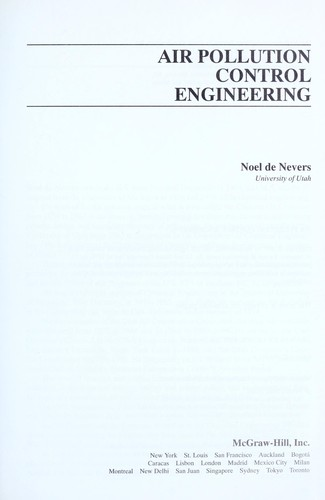 Download Air pollution control engineering