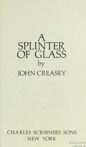 A splinter of glass.