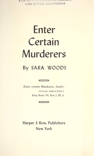 Enter certain murderers.